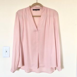 Rose & Olive rose blush pink blouse